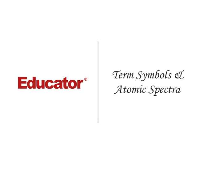 76 Term Symbols Atomic Spectra Physical Chemistry Educator