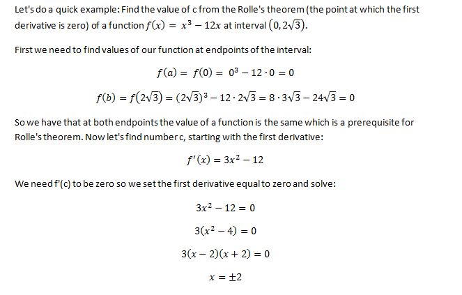 Mean Value Theorem 2