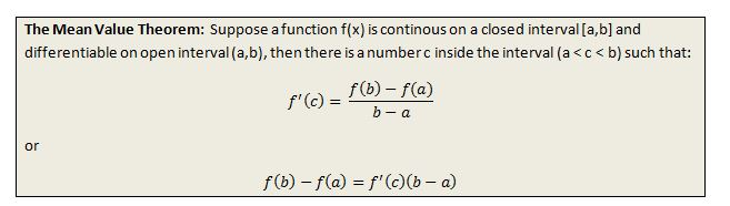 Mean Value Theorem 3