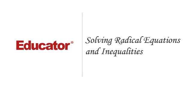 rational and radical equations - 650×350