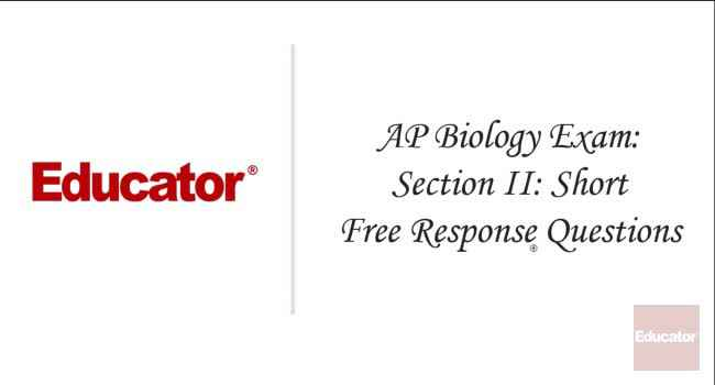 ap biology exam free response exampl Clear biology provides a resource page for helping students prepare for the ap biology exam examples, connections to other the free response questions on the.