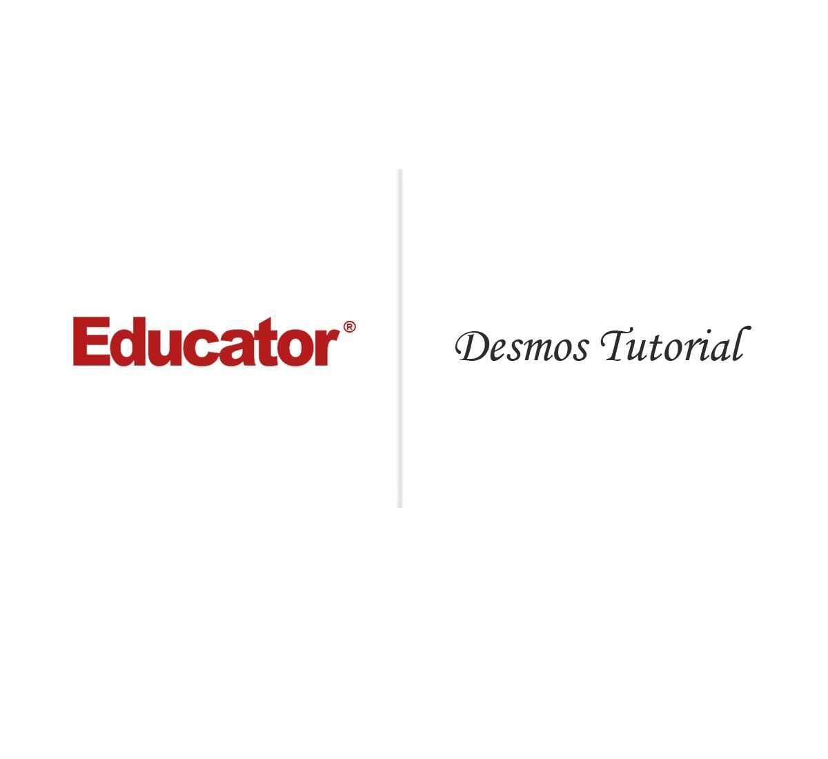 4  [Desmos Tutorial] | AP Calculus AB | Educator com
