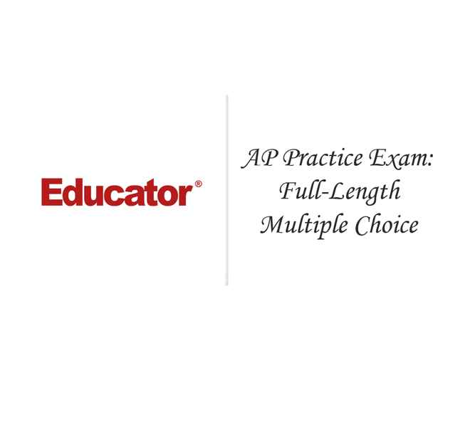 27 AP Practice Exam Full Length Multiple Choice AP
