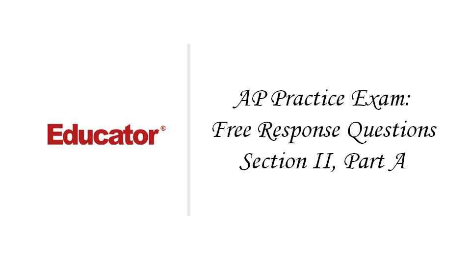 Practice ap exam