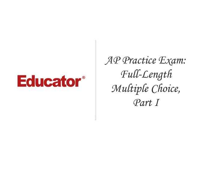 20  [1999 Released AP Practice Exam: Full-Length Multiple Choice