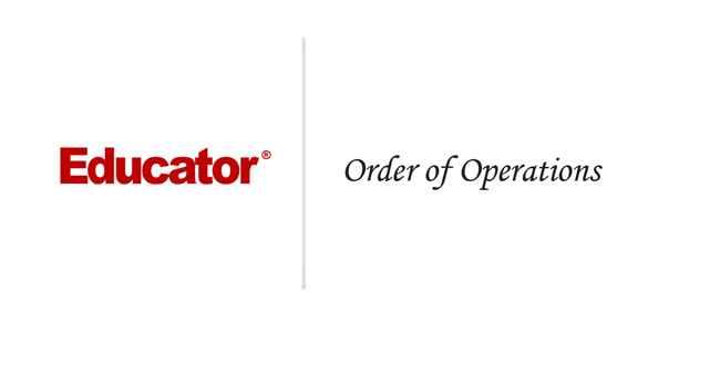 3 Order Of Operations Basic Math Educator Com