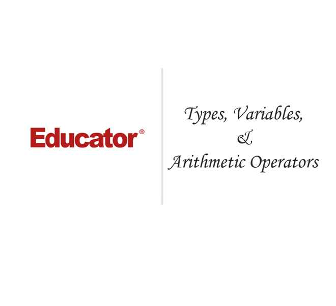 2  [Types, Variables, & Arithmetic Operators] | Introduction to Java