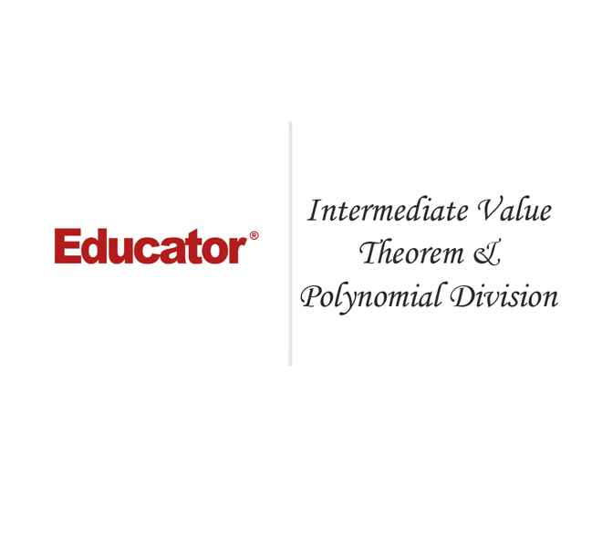 20 Intermediate Value Theorem And Polynomial Division Pre