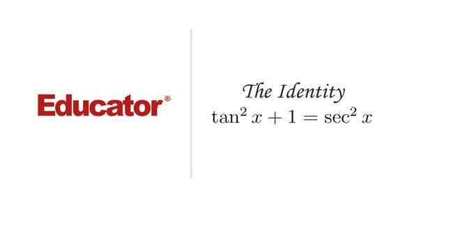 10  [Identity Tan(squared)x+1=Sec(squared)x] | Trigonometry