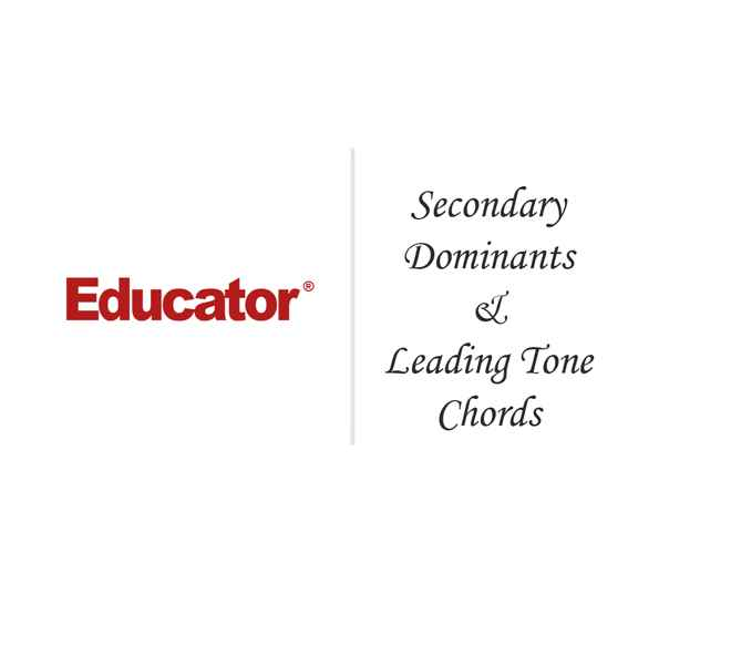 16 Secondary Dominants Leading Tone Chords Ap Music Theory
